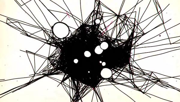 黒い線絡まる サムネイル